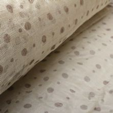 Ivory with Cappuccino Spot Print Sinamay